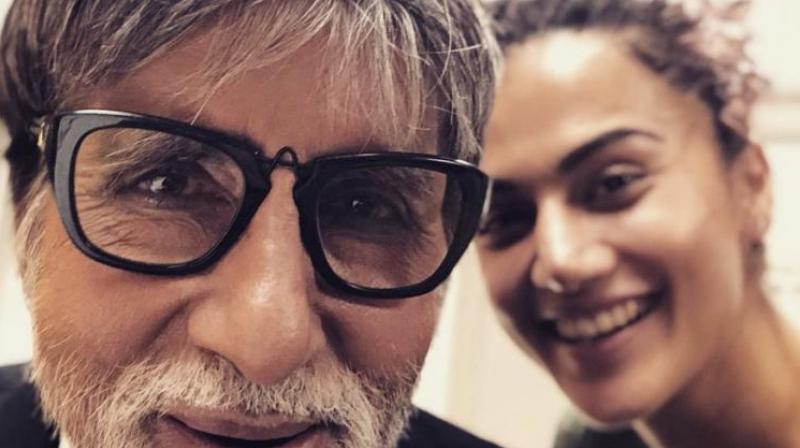 Taapsee Pannu and Amitabh Bachchan.