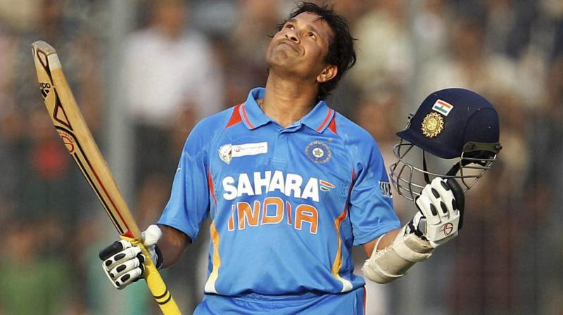 Tendulkar amassed 18,426 runs in ODI and is 4,192 runs ahead of the second positioned batsman Kumar Sangakkara. (Photo: AP)