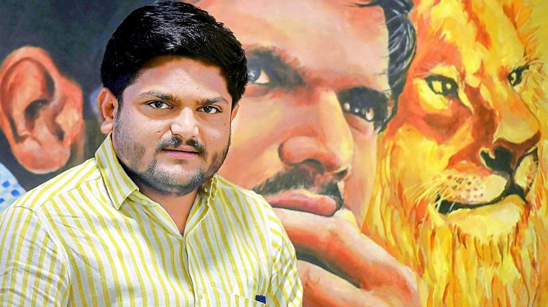 Hardik Patel's outfit Patidar Anamat Andolan Samiti, which was at the forefront of agitation for reservation benefit in government jobs and college admissions, had declared its support to the Congress party in the local body elections in 2015 and assembly polls in 2017. (Photo: File)