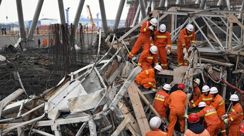 The workers were adding a second floor to a house in Shaodong village when it collapsed. (Photo: Representational/ AP)