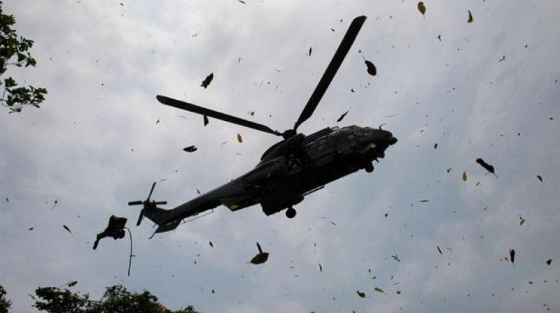 The helicopter was carrying a delegation, headed by a major-general, which was inspecting the Senoba region. (Photo: Representational/ AFP)
