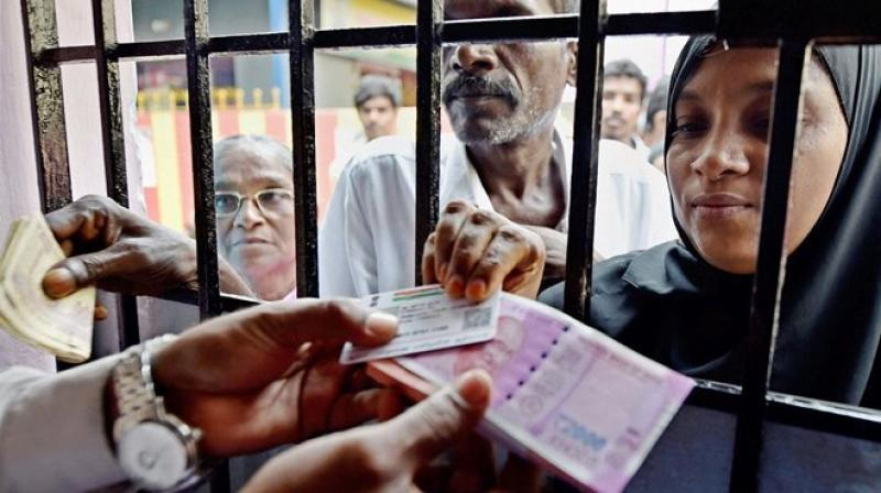 'Unusual' cash deposits totalling Rs 1.6-1.7 trillion were made during thedemonetisationperiod, says an RBI research paper. Photo: PTI
