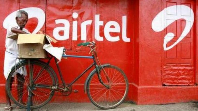 Bharti Airtel Bharti's Indian revenue rose 3 per cent year-on-year to 153.61 billion rupees. (Photo: PTI)