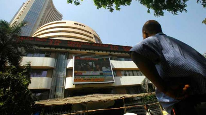 The broader NSE Nifty too tumbled 73.50 points, or 0.63 per cent, to settle at 11,588.35. (Photo: AP)