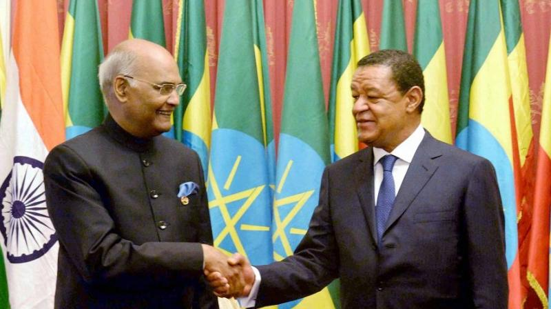 The Union Cabinet on Wednesday gave its ex-post facto approval to the trade agreement between India and Ethiopia. (Photo: PTI)