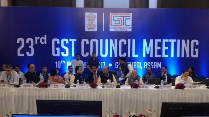 The 23rd meeting of the Goods and Services Tax (GST) is now underway and is being chaired by Union Finance ministerArun Jaitley. (Photo: ANI)