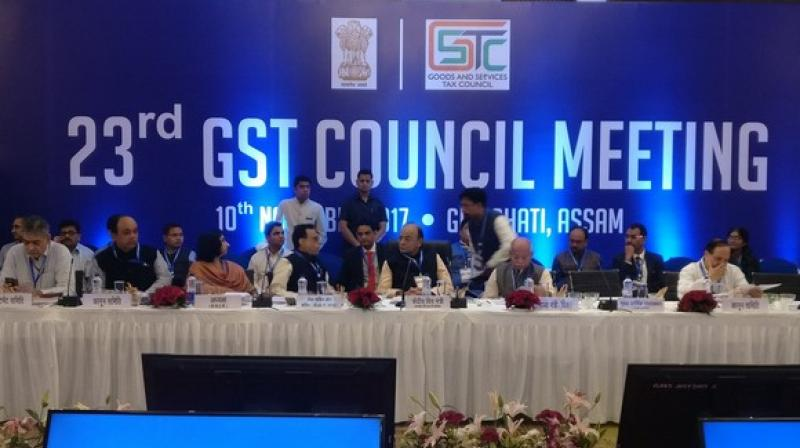 The GST Council at its 23rd meeting in Guwahati has slashed tax rates on 177 items in the top 28 per cent slab. (Photo: ANI)
