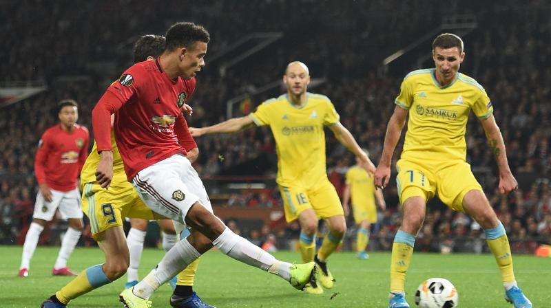 Seventeen-year-old striker Mason Greenwood scored his first senior Manchester United goal and saved his side's blushes in a 1-0 win over Kazakhstan's Astana in their Europa League Group L opener at Old Trafford on Thursday. (Photo:AFP)