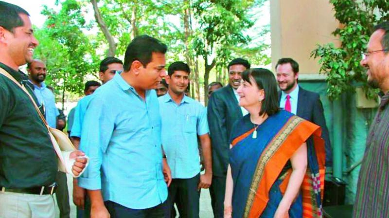 US Consulate General Katherine Hadda with KTR