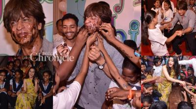 With the country celebrating Children's day on Tuesday, even Bollywood stars took out time for kids on the occasion. (Photo: Viral Bhayani)