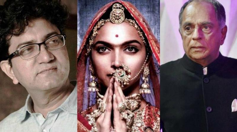 Prasoon Joshi, Deepika in Padmavati movie, and Pahlaj Nihalani.