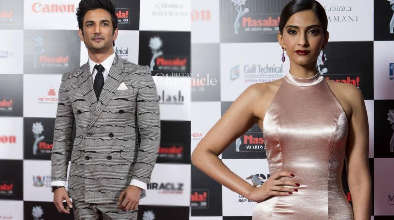 Sushant Singh Rajput and Sonam Kapoor received awards for their performances at the Masala Awards. (Photo: Viral Bhayani)