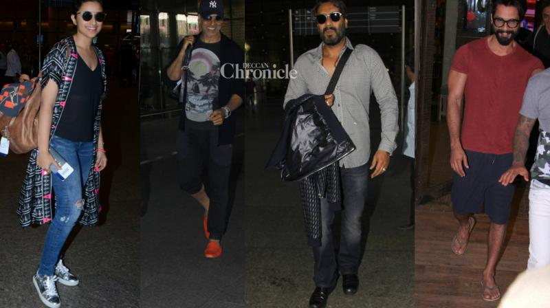 Several Bollywood celebrities were captured by shutterbugs as they stepped out for personal and professional reasons on Tuesday. (Photo: Viral Bhayani)