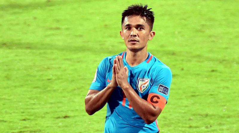 Sunil Chhetri said not qualifying for the 2015 Asian Cup in Australia remains a regret and it lingers.(Photo: PTI)