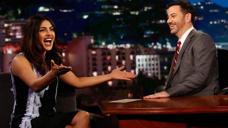 This is Priyanka's second appearance on Jimmy Kimmel's show.