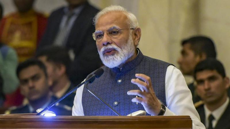 """""""When at 3.40 am I was told that the operation was over and our forces had returned safely, I did not sleep, I browsed the internet to see if there was any reaction anywhere in the world,"""" PM Narendra Modi told a television channel. (Photo: File)"""