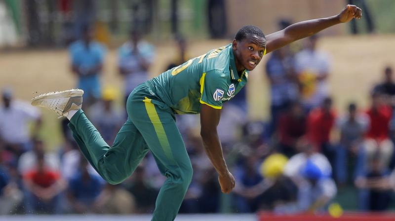 Rabada, who took 4-41, inflicted the early damage while left-arm spinner Shamsi provided the late breakthroughs with his 4-33 as South Africa bundled out Sri Lanka for 193 under 35 overs after the hosts won the toss and opted to bat. (Photo: AP)
