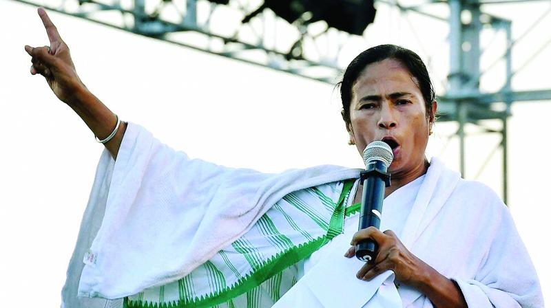 West Bengal Chief Minister and Trinamool Congress supremo Mamata Banerjee asked people to congregate at Dharmatala in central Kolkata today. (Photo: File)