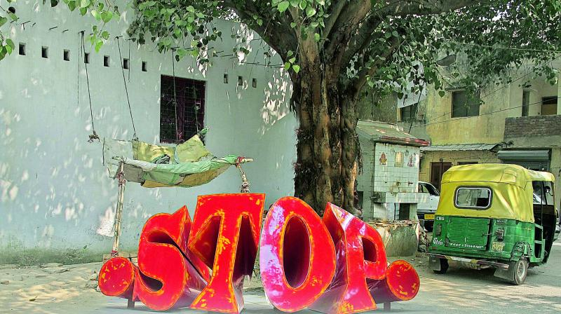 STOP sign from Alex's Dented and Painted  collection