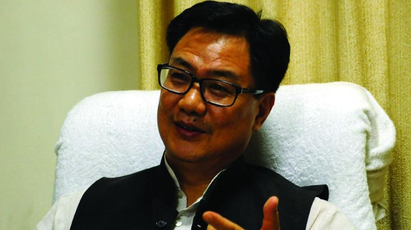 Kiren Rijiju, BJP Union Minister of State for Home, congratulated the party members for victory in the bypolls. (Photo: G N Jha/File)