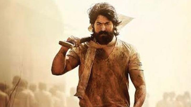 A still from the movie KGF.