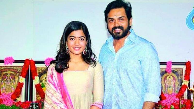 Rashmika Mandanna, who turned into an overnight star, is now making her debut in Tamil.
