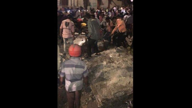 Eyewitnesses reported a loud sound around 7.30 pm after which several people were seen trapped under debris. (Photo: File)
