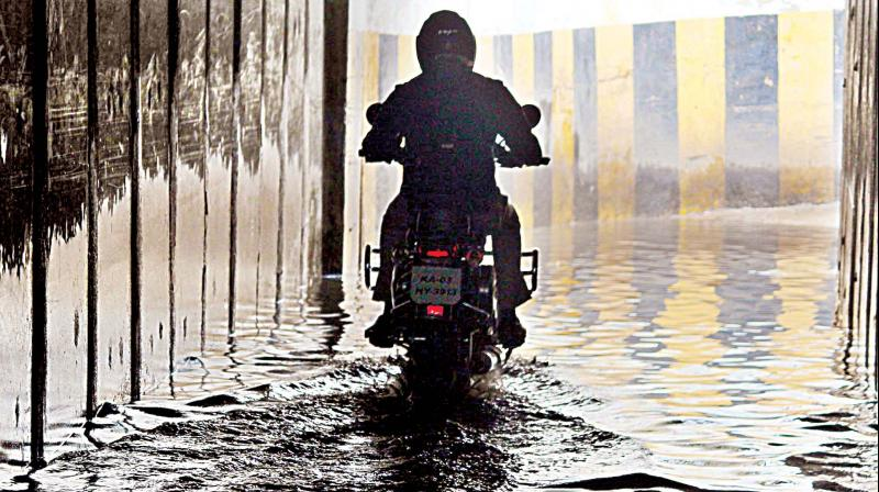 The flooded underpass near Hebbal (Image: DC)