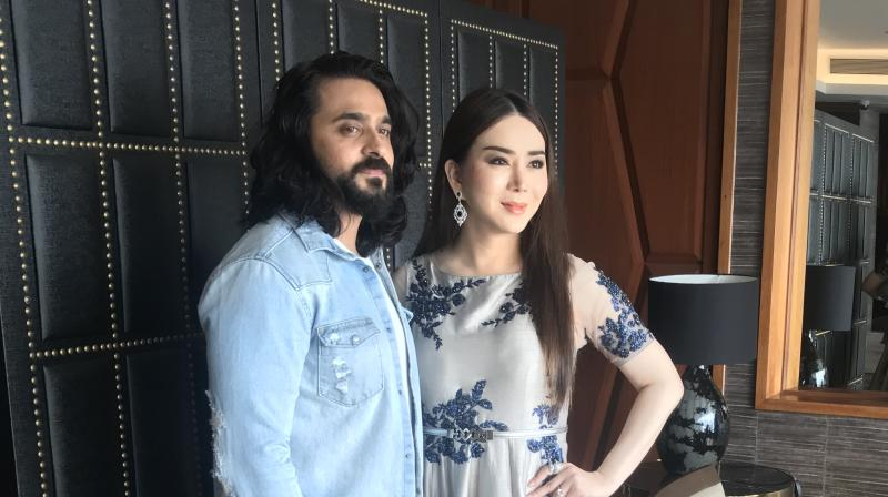 Actor Ashish Sharma along with Anne Jakkraphong Jakrajutatip during their meeting on Khejdi.