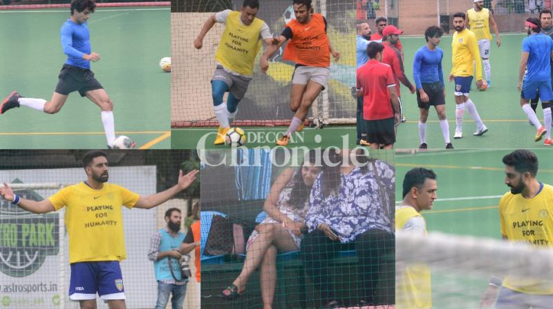 Celebrities stepped out for their Sunday football session in Mumbai and were snapped. (Photos: Viral Bhayani)