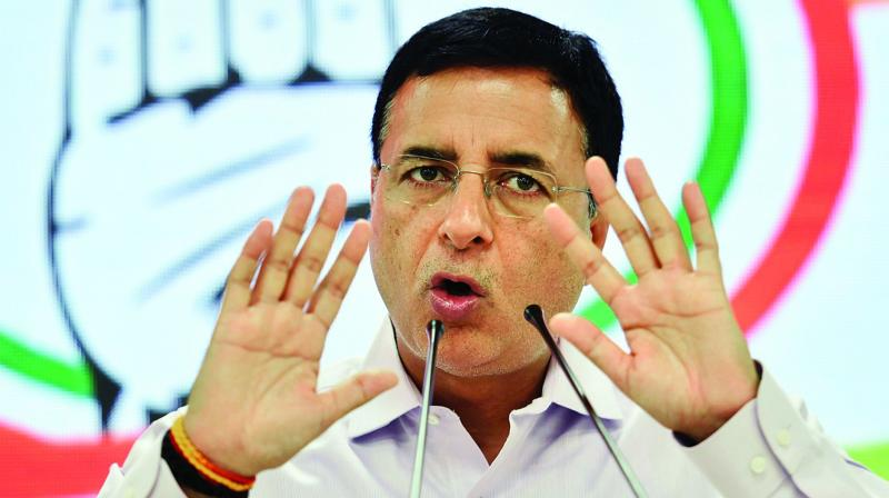 Congress's chief spokesperson Randeep Surjewala said the unwritten convention of the BJP-led government was 'action not matching its words'. (Photo: File)