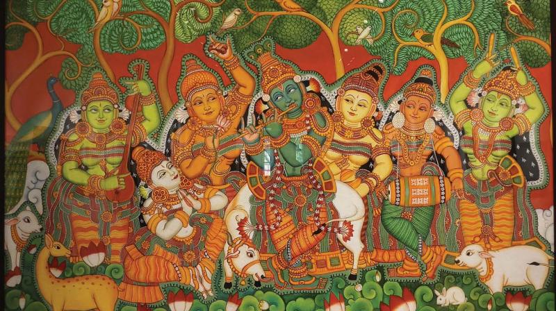 The works of Vasudevan Thiyyadi are more connected with the realities of daily life.
