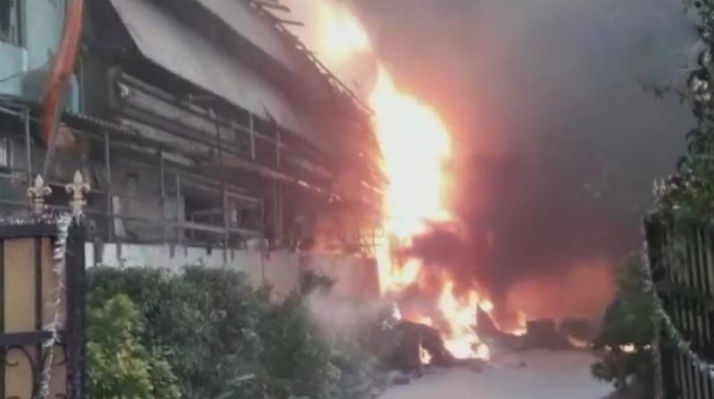 Fire injures 4 in Hyderabad's Jeedimetla area