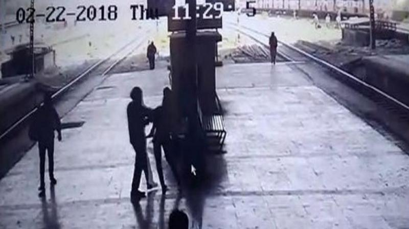 Police arrest man after he forcibly kissed a woman on railway platform