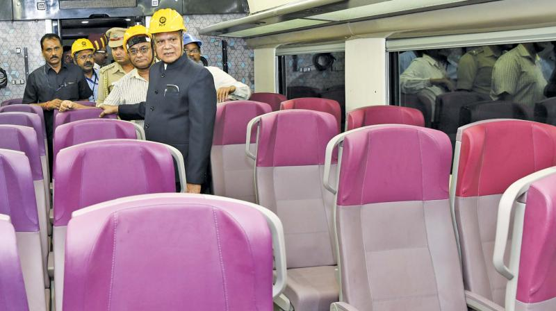 Governor Banwarilal Purohit participated as Chief Guest at the 64th Railway Week celebrations at the Integral Coach Factory on Tuesday. Picture shows the Governor inspecting a coach in the making.(Image DC)