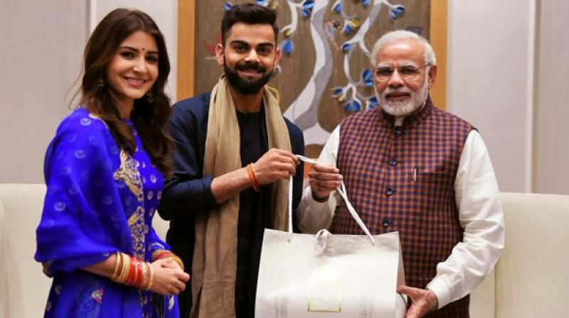 While there were speculation since the end of the Test series against Sri Lanka, Team India skipper and the Bollywood actress made the official announcement of their marriage via their social media channels on December 11. (Photo: Twitter)