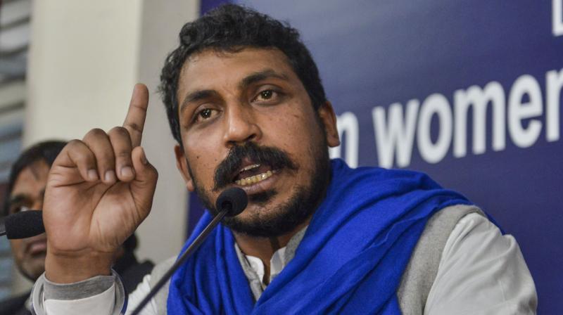 Dalit leader Chandrashekhar Azad detained in Hyderabad