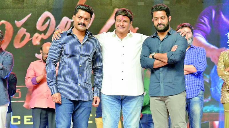 According to a source, it is Kalyan Ram, who has played a key role in bringing Balayya and Jr NTR together on the same dais.