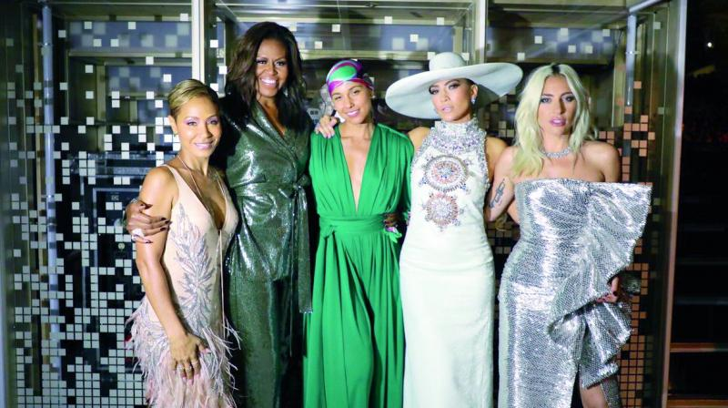 Jada Pinkett Smith, Michelle Obama, Alicia Keys, Jennifer Lopez and Lady Gaga.
