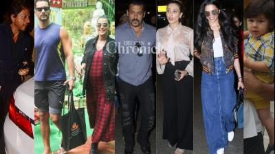 Bollywood stars gave paparazzi a busy time in Mumbai on Thursday as they ventured out. (Photos: Viral Bhayani)