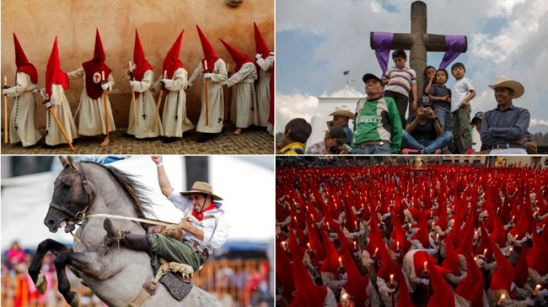 Devotees around the world take part in the rituals during the Holy Week before the Easter celebrations on Sunday. (Photo: AP)