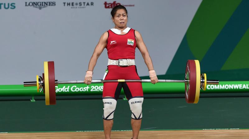 Sanujita Chanu  lifted a total of 192kg top win the gold in 53kg in Gold Coast. She had also won a gold in the 48kg category in the 2014 CWG in Glasgow. (Photo: PTI)