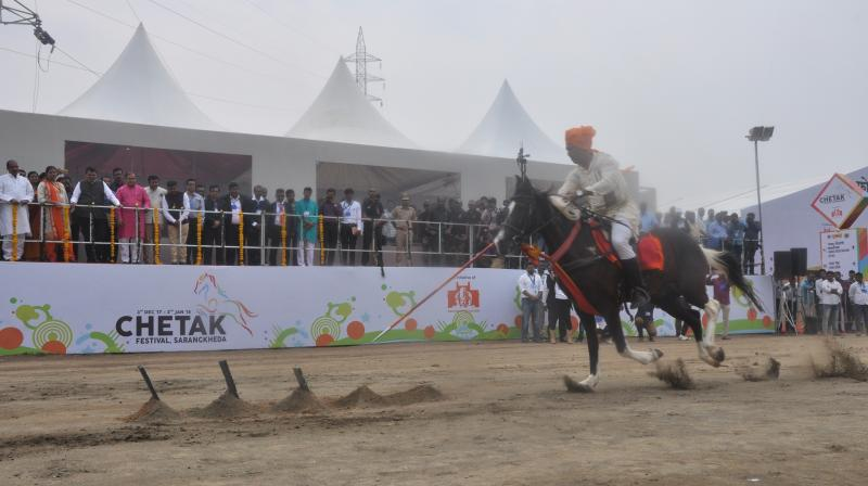 Chetak Festival, Sarangkheda is an age-old pastoral fair of horses that has been transformed into a month-long celebration.