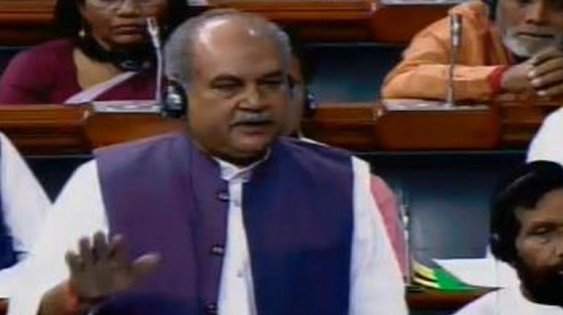 Union Rural Development Minister Narendra Singh Tomar said the overall budgetary allocation for MGNREGA has increased from Rs 55,000 crore in 2018-19 to Rs 60,000 crore 2019-20. (Photo: File | ANI)