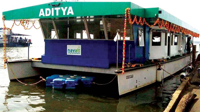 The country's first solar ferry boat which completed 150 days of voyage proving sceptics wrong. (Photo: DC)