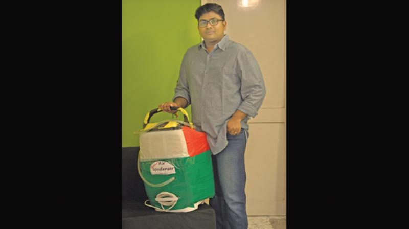 Kumar with his  invention