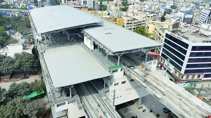 The Ameerpet interchange station.