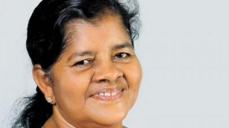 Fisheries minister J. Mercykkutty Amma