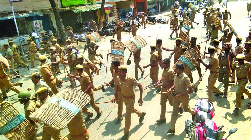 Image result for tamilnadu police firing