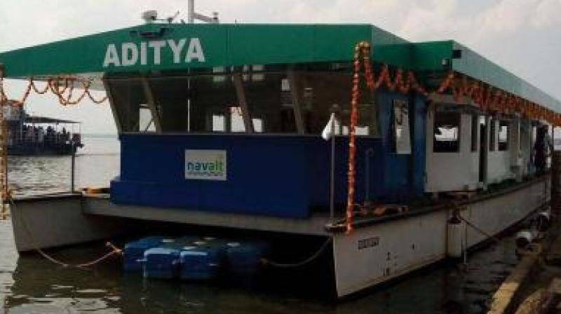 'Aditya', the country's first solar ferry, successfully completed two years of operation.